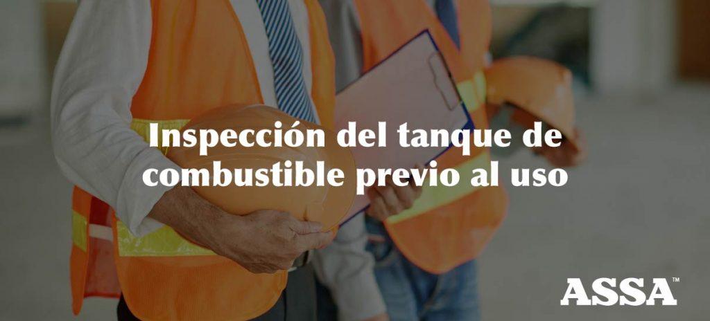 inspeccion del tanque-ASSA